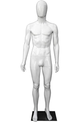 Unbreakable Male Egghead Mannequin in Gloss White