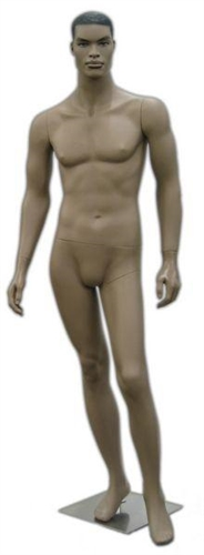 Realistic Facial Features African American Male Mannequin