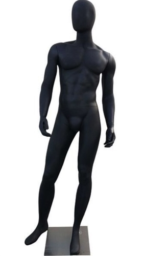 Male Mannequin in Black from www.zingdisplay.com