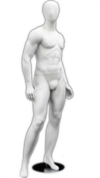 Male Mannequin in White from www.zingdisplay.com