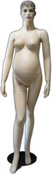 Maternity Mannequin with Realistic Face and Molded Hair