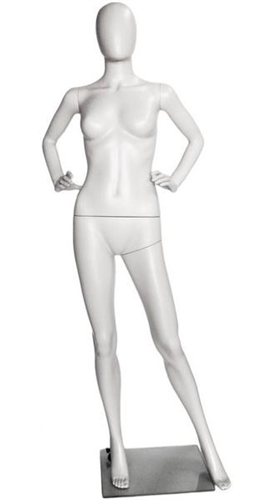 Female Egghead Mannequin in Unbreakable Plastic