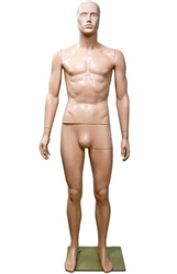 Male Mannequin in Unbreakable Fleshtone Plastic from www.zingdisplay.com