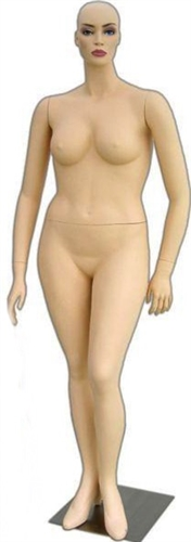 Photo: Female Mannequin - Plus Size Collection Realistic Facial Features