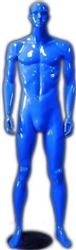 Male Mannequin in Glossy Blue from www.zingdisplay.com
