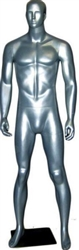 Male Mannequin in Glossy Silver from www.zingdisplay.com