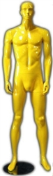 Male Mannequin in Glossy Yellow from www.zingdisplay.com