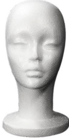 Styrofoam Head Display | Hat Display Form | head forms | hat mannequin