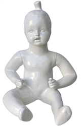 Glossy White Abstract Baby Standing Toddler