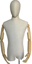 Egghead Male Dress Form with Flexible Arms and Fingers