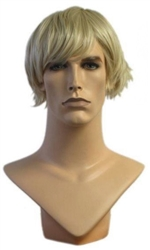 Blond Layered Cut Male Mannequin Wig