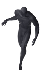 Headless Matte Grey Muscular Male Mannequin - Basketball Dribble Pose | From ZingDisplay.com