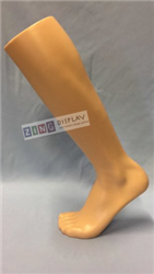 Men's Over Calf Athletic Sock Foot Form - Nude