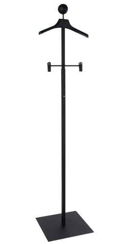 Matte Black Women's Floor Standing Customer With Hanger