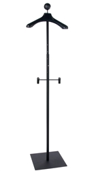 Matte Black Men's Floor Standing Customer With Hanger