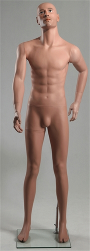 "Male Caucasian Mannequin 5'9"" Tall Looking Up"