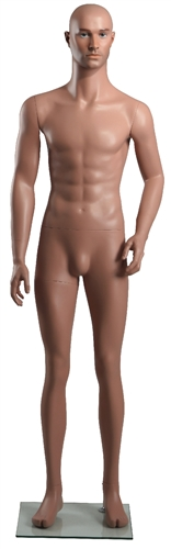 "Male Caucasian Mannequin 5'9"" Tall Right Arm Bent"