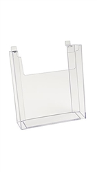 Clear Leaflet Literature Holder for Slatwall use from ZingDisplay.com