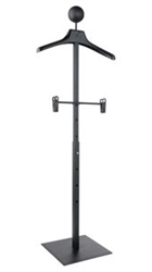 "46"" Self Standing Adjustable White Clothing Hanger Display Stand From ZingDisplay.com"