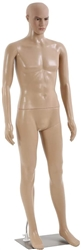 6 FT Unbreakable Fleshtone Realistic Male Mannequin - Straight Pose