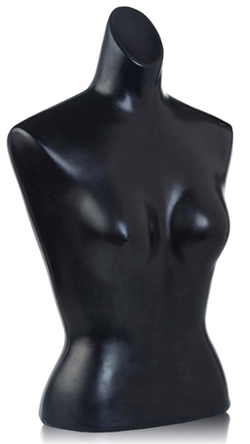 Unbreakable Plastic Female Torso Form in Black