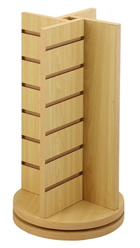 4 Way Wood Slatwall Countertop Spinner Display