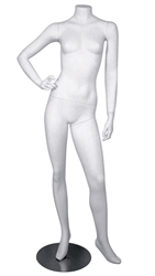 Right hand on hip female headless mannequin