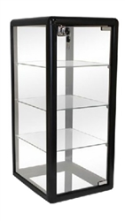 Glass Countertop Display. Comes with 3 glass shelves and a sliding glass door that locks. Shop all of our countertop displays at www.zingdisplay.com