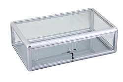Glass Countertop Display. Has a sliding glass door that locks. Shop all of our countertop displays at www.zingdisplay.com