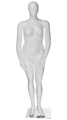 Plus Sized Female Mannequin with Abstract Egghead from www.zingdisplay.com