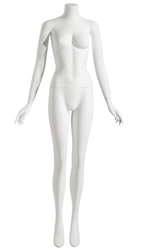 Matte White Headless Female Mannequin
