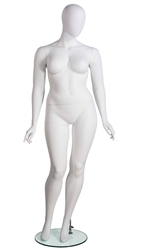 Plus Size Female Mannequin in White