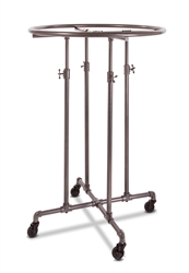 "Anthracite Grey 36"" Round Garment Display Rack"