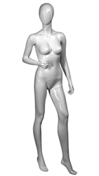 Female Mannequin in White. Abstract Egghead.