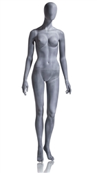 Slate Grey Mannequin Abstract Head Female arms at sides