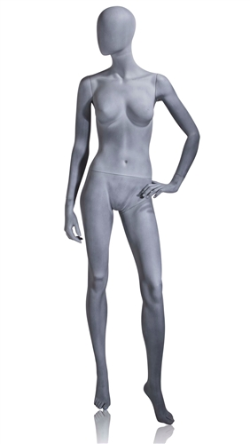 Slate Grey Mannequin Abstract Head Female Left Hand on Hip