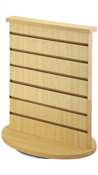 2 Way Wood Slatwall Countertop Spinner Display