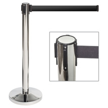 Chrome Belt Style Stanchion - Crowd Control
