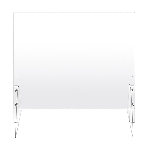 "Large 41"" x 31.5"" Acrylic Sneeze Guard POS Protection"