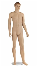 Realistic Male Athletic Fleshtone Mannequin