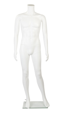 White Headless Plastic Male Mannequin