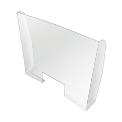 Countertop Sneeze Guard Splash Guard Shield with Pickup Window