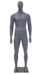 Egghead Male Mannequin Matte Pewter