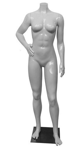 High End Athletic Headless Female Mannequin Hands on Hips - 6 Colors