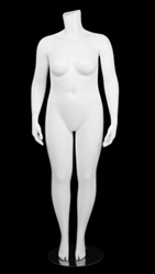 Matte White  Female Plus Size 16 Mannequin - Changeable Heads