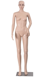 Unbreakable Realistic Fleshtone Female Mannequin Left Arm Bent. Shop all of our headless female mannequins at www.zingdisplay.com