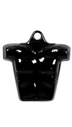 Glossy Black Plastic Male Chest Form from www.zingdisplay.com