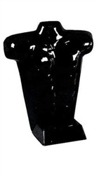 Glossy Black Plastic Male Countertop Torso Form from www.zingdisplay.com