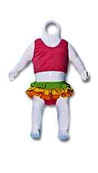 Glossy White Infant Body Form from www.zingdisplay.com