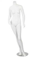 White Headless Female Fiberglass Mannequin
